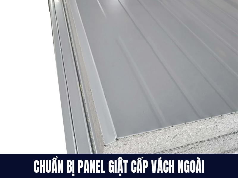 Chuẩn bị panel eps cách nhiệt hay panel giật cấp vách ngoài