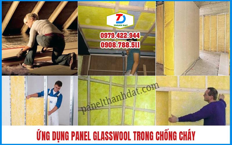 3 Ứng dụng Tấm Panel Glasswool Bông Thủy Tinh Chống Cháy