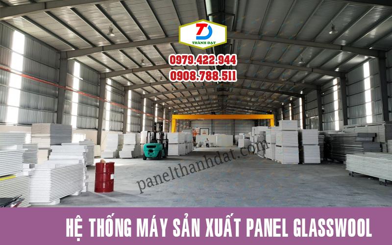Nhà máy sản xuất panel glasswool công ty Thành Đạt